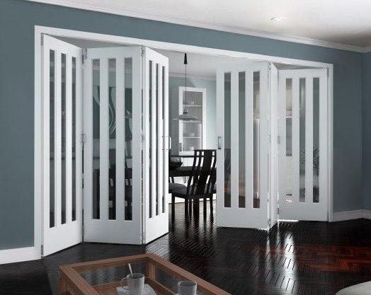 white primed internal bifold door